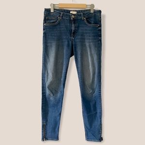 H&M Skinny Ankle Length Zip Jeans